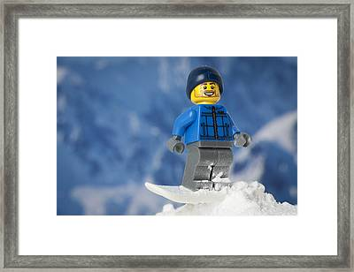 Snowboarding Framed Print by Samuel Whitton