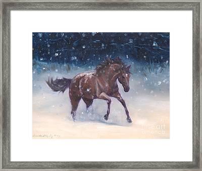 Snowbounding Framed Print