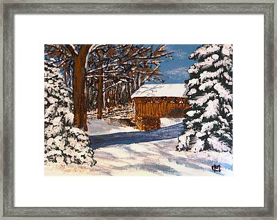 Snowbridge Framed Print