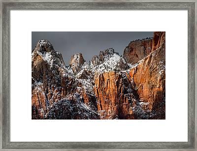 Snowcapped Framed Print