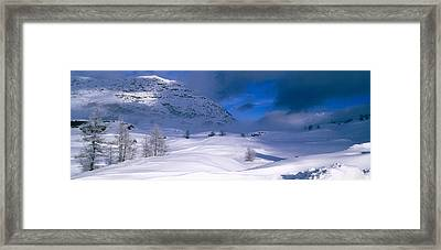 Snowcapped Mountain In A Polar Framed Print by Panoramic Images