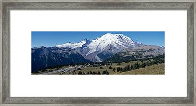Snowcapped Mountain, Mt Rainier, Mt Framed Print by Panoramic Images