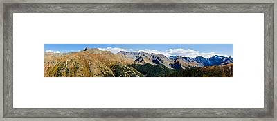 Snowcapped Mountain Peaks, San Juan Framed Print