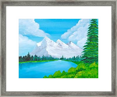 Snowcapped Mountains Framed Print