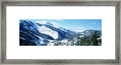 Snowcapped Mountains, Lone Mountain Framed Print