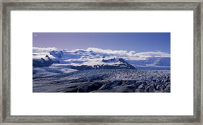 Snowcapped Mountains On A Landscape Framed Print by Panoramic Images