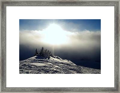 Snowcloud Sunburst Framed Print by Peter Mooyman