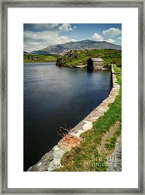 Snowdon From Llyn Y Dywarchen Framed Print
