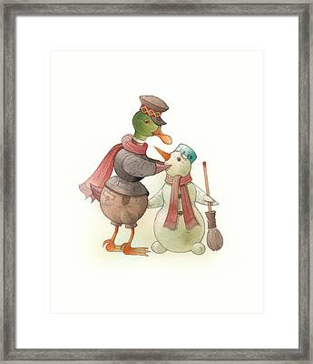 Snowduck Framed Print by Kestutis Kasparavicius