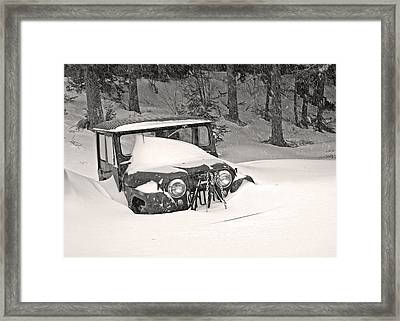 Framed Print featuring the photograph Snowed In by Barbara West