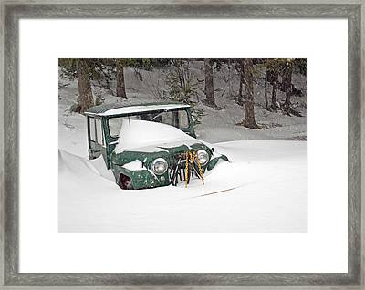 Framed Print featuring the photograph Snowed In - Color by Barbara West