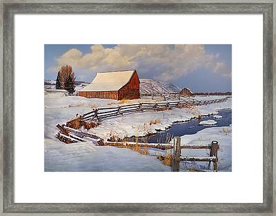 Snowed In Framed Print by Priscilla Burgers