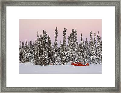 Snowed In Super Cub Framed Print