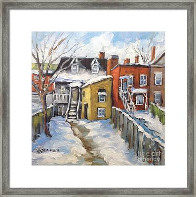 Snowed In Yards By Prankearts Framed Print