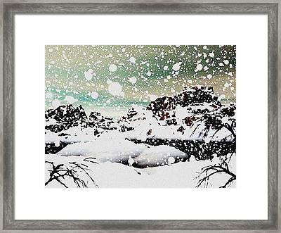 Snowfall Framed Print by Anastasiya Malakhova