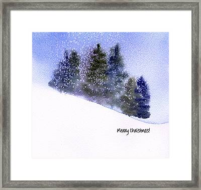 Framed Print featuring the painting Snowfall by Anne Duke