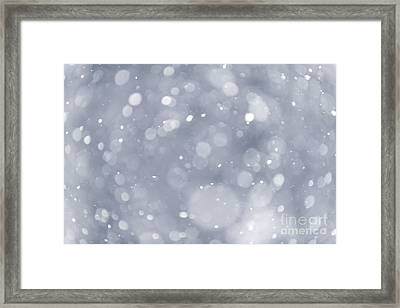 Snowfall Background Framed Print