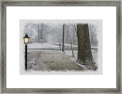 Snowfall Framed Print by Brian Wallace