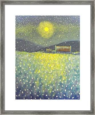 Snowfall County Wicklow  Framed Print by John  Nolan