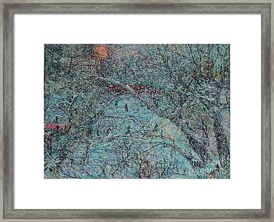 Snowfall In Moscow's Lublino Park Framed Print