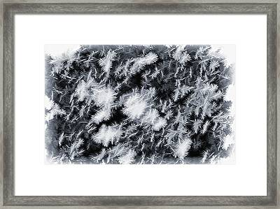 Snowfall - Snowflakes Abstract Framed Print by Steve Ohlsen