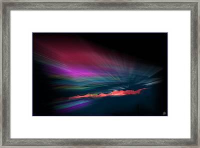 Snowfence Borealis Framed Print