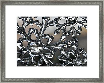 Snowflake Framed Print by Cheryl McClure