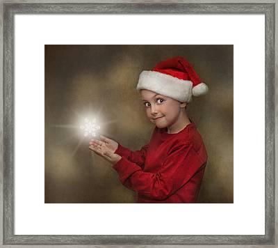 Snowflake Elf Framed Print