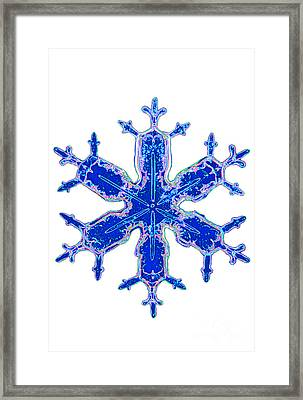 Snowflake Framed Print by Kent Wood