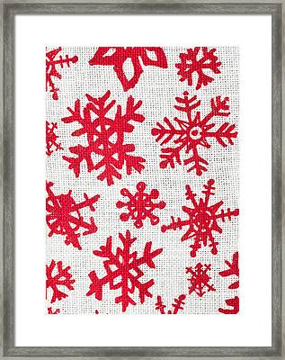 Snowflake Pattern Framed Print by Tom Gowanlock