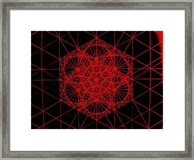 Snowflake Shape Comes From Frequency And Mass Framed Print