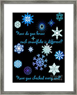 Snowflakes 2 Framed Print by Methune Hively