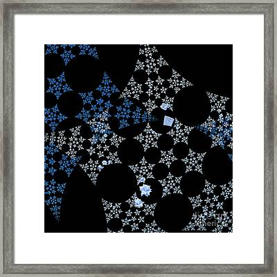 Snowflakes By Jammer Framed Print by First Star Art