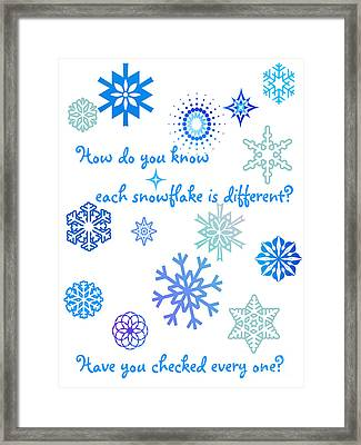 Snowflakes Framed Print by Methune Hively