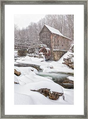 Snowglade Creek Grist Mill Framed Print