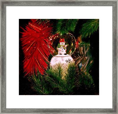 Snowglobe Framed Print by Shelley Blair