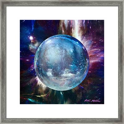 Snowglobular Framed Print by Robin Moline