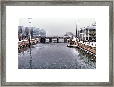 Winter Bridge Framed Print by EXparte SE