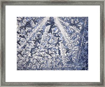 Snowing Butterflies Framed Print