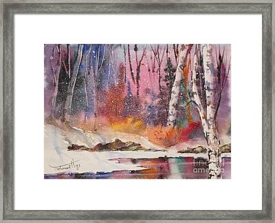 Snowing Framed Print