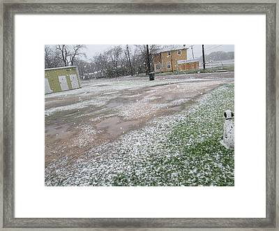Snowing Framed Print by Rosalie Klidies