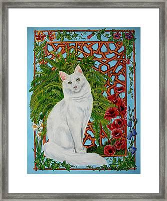 Framed Print featuring the painting Snowi's Garden by Leena Pekkalainen
