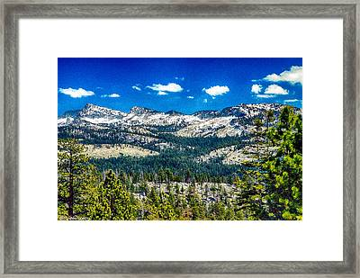 Snowline In Yosemite National Park Framed Print by Bob and Nadine Johnston