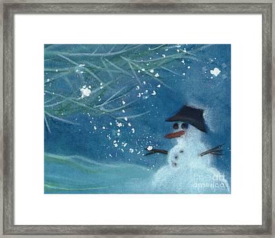 Snowman By Jrr Framed Print by First Star Art