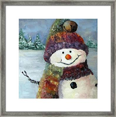 Snowman I - Christmas Series I Framed Print by Cheri Wollenberg