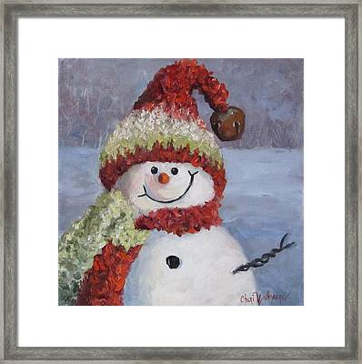 Snowman II - Christmas Series Framed Print
