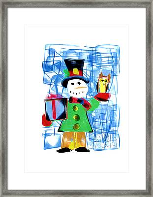 Snowman  Framed Print by Jon Baldwin  Art
