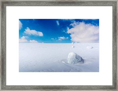 Snowman Some Assembly Required Framed Print