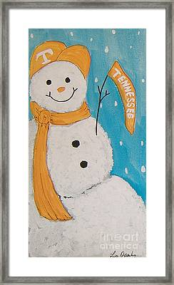 Snowman University Of Tennessee Framed Print