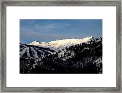 Framed Print featuring the photograph Snowmass Mountain - Wild Cat Ranch by Allen Carroll